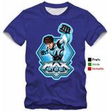 Camiseta Maxsteel Infantis De Criança Camisa 100% Algodão