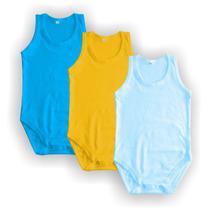 Body Regata - Tamanhos 2, 3 E 4 - 18 Cores - 100%algodão