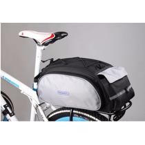 Mochila Alforja Portabultos Para Bicicleta Urbana Parrila
