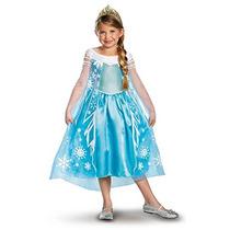 Disfraz A Disney Congelado Elsa Traje De Lujo,