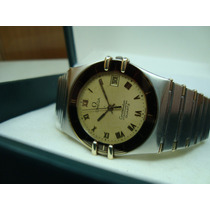 Reloj Omega Constellation Brazalete Con Remaches De Oro