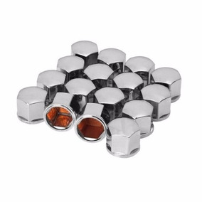 Jogo Capa De Parafusos De Roda Cromado 16 Unidades + Brinde