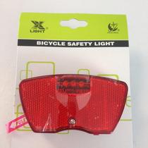 Lampara Bicicleta Luz Led Calavera Para Parrilla Trasera