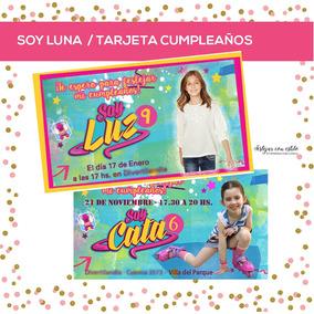 Soy Luna - Tarjeta Invitacion Cumple Con Foto Y Logo Nena