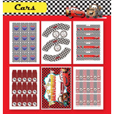 Kit Para Imprimir En Casa! Cars Con Ray Mcqueen Completo