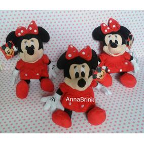 Minnie Vermelha Pelúcia Disney Kit C/3 Musical Boneca