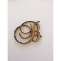 2 Letras Em Mdf Fonte Brock Script 3cm Altura Frete R$9,00