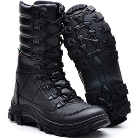 Bota Masculina Coturno Cano Médio Militar Ziper