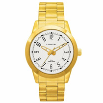 Relógio Lince Orient Masculino Aço Folheado Mrg4063s Wr Z