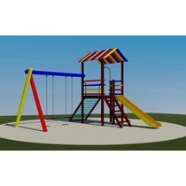 Playground De Madeira Colorido Parque Mod 302