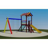 Parque Infantil Colorido De Madeira Playground Mod 302