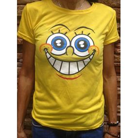 Camisa De Bob Esponja Estampada Por Alante Y Por Atras