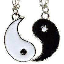 Collar Ying Yin Yang Regalo Novios Pareja Enamorados Amigos