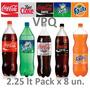 Coca Cola 2.25 Litros Pack X 8u. Mercadopago. Distri. Envios