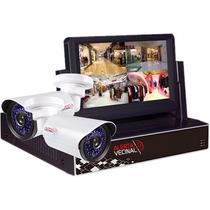 Kit Seguridad Cctv Dvr Con Monitor Camaras Ahd Hogar Negocio