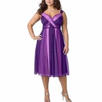 Vestido De Fiesta Púrpura Tallas Grandes