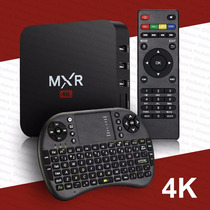 Smart Ott Tv Box Mxr 4k Wifi Android + Mini Teclado Wireless