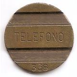 Argentina Ficha Cospel Teléfono Público N338