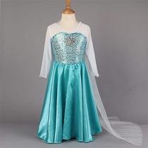 Disfraz De Elsa - Frozen Para Niñas De 4- 5-6 Años