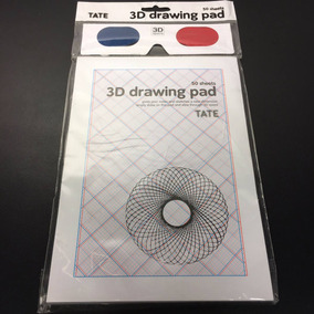 Caderno De Desenho - 3d Drawing Pad C/ Óculos / Tate / Novo