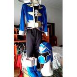 Disfraz Power Ranger Super Mega Force Azul Talle 8