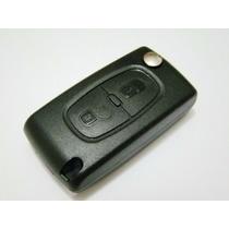 Chave Canivete Alarme Para Citroen C3 Picasso Xsara 2 Botões