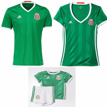 Jersey Playera Mexico 2016-2017 Hombre Y Niño Seleccion