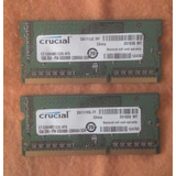 2 Memoria Ram Crucial Ddr3 1gb Para Notebook O Netbook