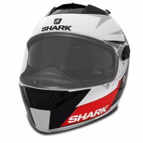 Capacete Fechado Shark Speed R Wkr Branco Viseira Solar