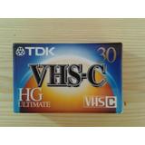 Vendo Cassette Vhs-c 30 Min --tdk--2.000 Bsf