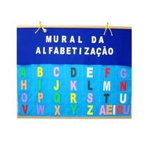 Painel Mural Da Alfabetização Em Feltro E Letras Em Eva