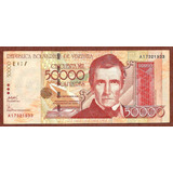 Billete Antiguo De 50000 Bs. Serial A-8 De 2005
