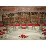 6 Vasos Hechos Con Botellas De Vodka Smirnoff. Copas.