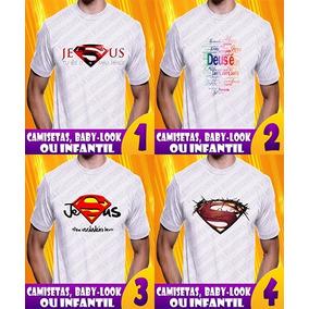 Kit 6 Camisetas Evangélicas Camisa Religiosas Frete Gratis