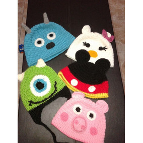 Gorritos Tejidos Disney Minion Mickey Peppa Pig Monster Inc
