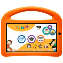 Tablet Dl Play Kids Intel - Tela 7, 8gb - Branco/laranja