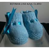 03 Sapatinhos Em Triçô Para Recém-nascido - Modelo Botinha