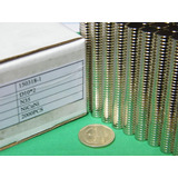 Imanes De Neodimio 10mm X 2mm - 9.5 Soles X Pack 10 Unidades