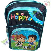 Mochila Escolar Infantil Masculino Menino Azul 3 Divisorias