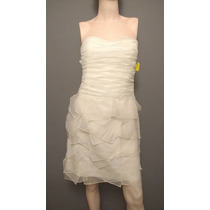 Vestido De Novia Civil Strapless Gasa Chico