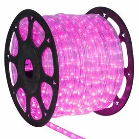 Mangueira Luminosa Led Decoração 1 Metro Rosa 110v 1368
