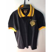 Camisa Polo Ed Hardy Christian Audigier Masculina Blk Yellow