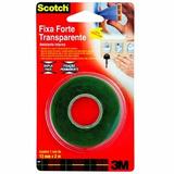 Fita Dupla Face Fixa Forte 3m Transparente 2m X 12mm