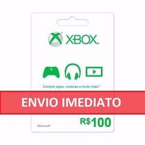 Microsoft Gift Card Cartão Presente Xbox Live Br R$100 Reais