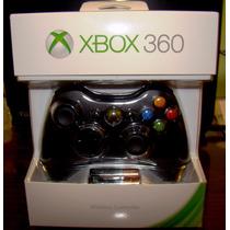 Control Inalambrico Original Microsoft Negro Xbox 360 Nuevo
