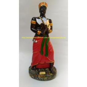 Estatua Xango Orixa Irmão De Ogum Oxossi Santo Imagem 45cm