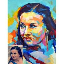 Retrato En Óleo. Pintura Al Óleo Personalizada