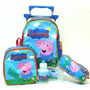 Kit Mochila Infantil George Pig Peppa Pig Rodinhas Tam M