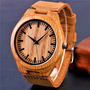 Relógio Masculino Artesanal Em Madeira Luxo Exótico Oferta!