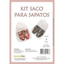 Sacos P/ Sapatos Tnt Kit Com 6un. Branco À Pronta Entrega